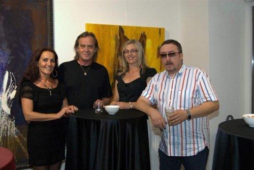 Vernissage in der Fine Art Gallery in Bratislava, Slowakei