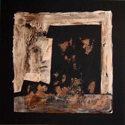 Lost Face - Mischtechnik auf Leinen - 80 x 80 cm