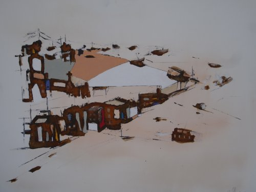 Serie ''Favelas'' - Mischtechnik auf Leinen - 60 x 80 cm
