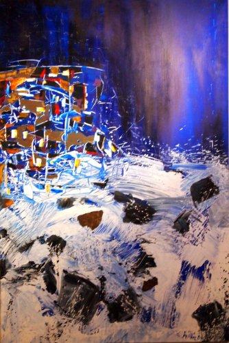 Serie ''Contemp. Witness 1'' - Mischtechnik auf Leinen - 150 x 100 cm