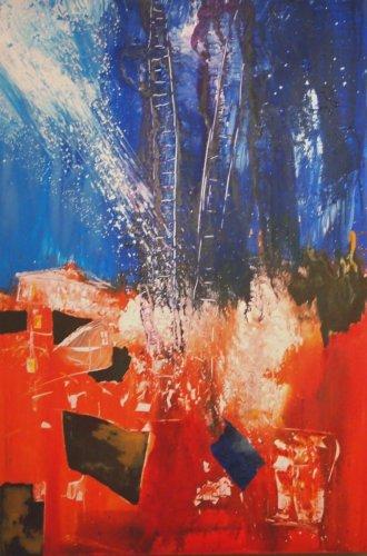 Serie ''Contemp. Witness 2'' - Mischtechnik auf Leinen - 150 x 100 cm