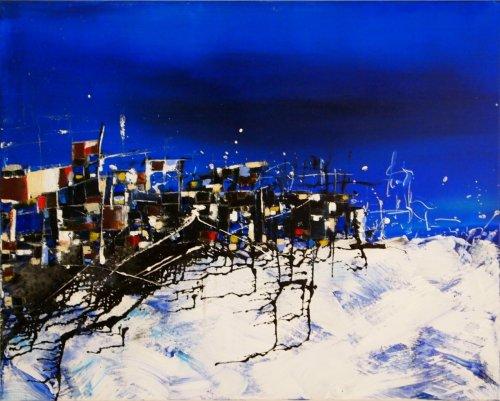 Serie ''Contemp. Witness 5'' - Mischtechnik auf Leinen - 100 x 80 cm