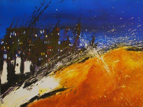 Serie ''Contemp. Witness 6'' - Mischtechnik auf Leinen - 100 x 80 cm