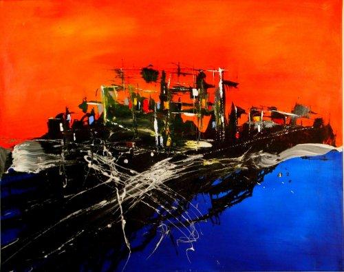 Serie ''Contemp. Witness 7'' - Mischtechnik auf Leinen - 100 x 80 cm