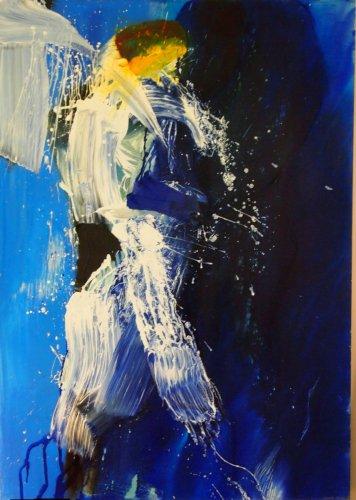 Blue Angel - Mischtechnik auf Leinen - 150 x 100 cm