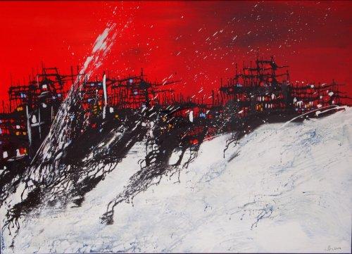 """Serie """"Contemp. Witness"""" - Mischtechnik auf Leinen - 110 x 80 cm"""