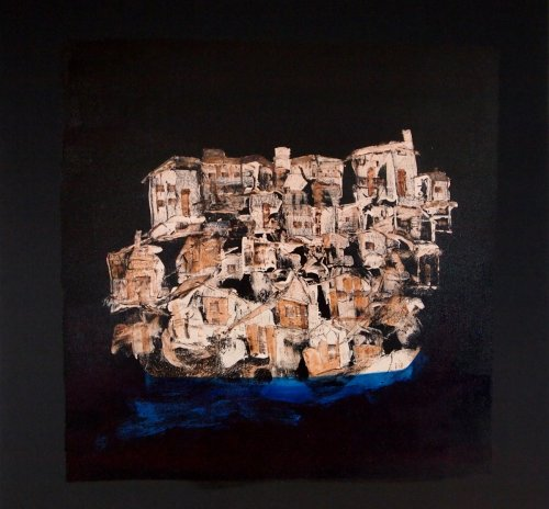 Serie ''Some Problems'' - Mischtechnik auf Leinen - 80 x 80 cm