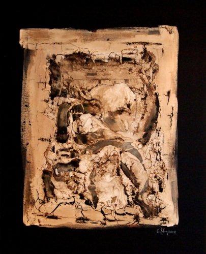 Serie ''Some Problems'' - Mischtechnik auf Leinen - 100 x 80 cm