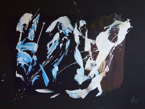 Serie ''Some Problems'' - Mischtechnik auf Leinen - 140 x 100 cm