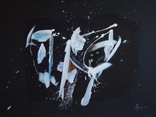 Serie ''Some Problems'' - Mischtechnik auf Malplatte - 60 x 80 cm